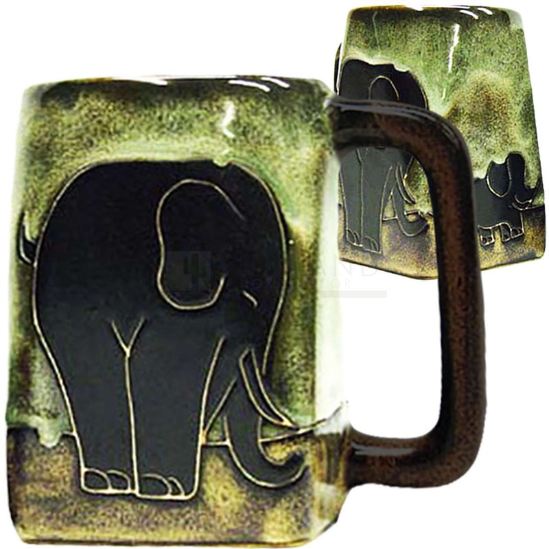 Mara Square Bottom Mug 12 oz - Elephants  511T9
