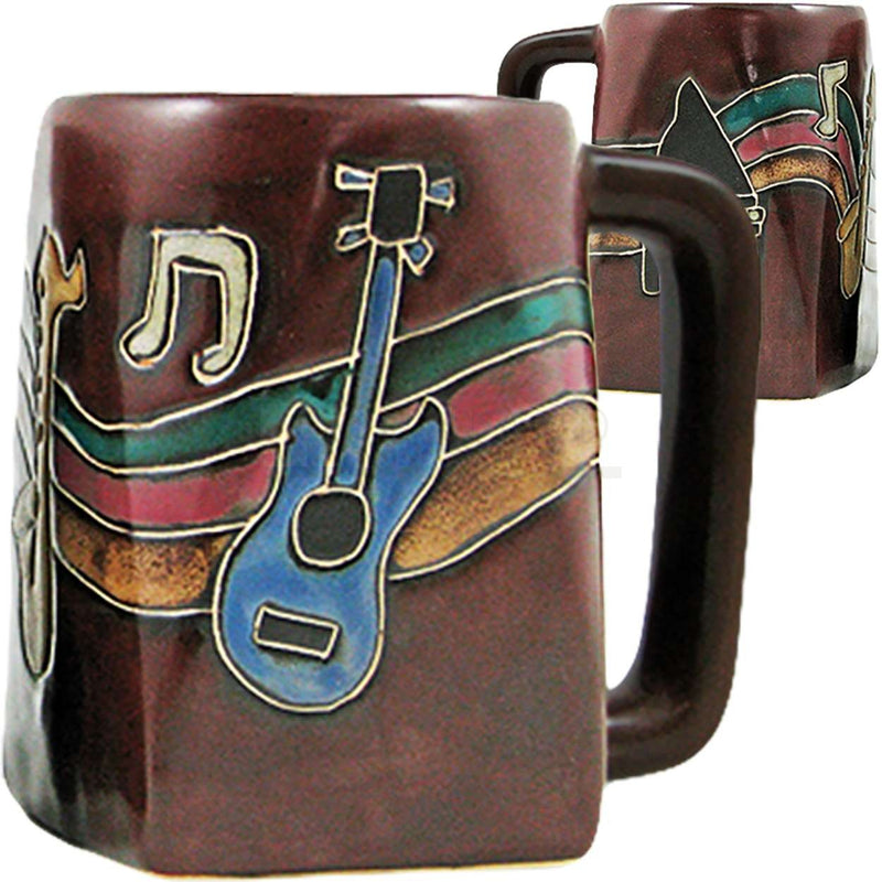 Mara Square Bottom Mug 12 oz - Musical Instruments   511V4