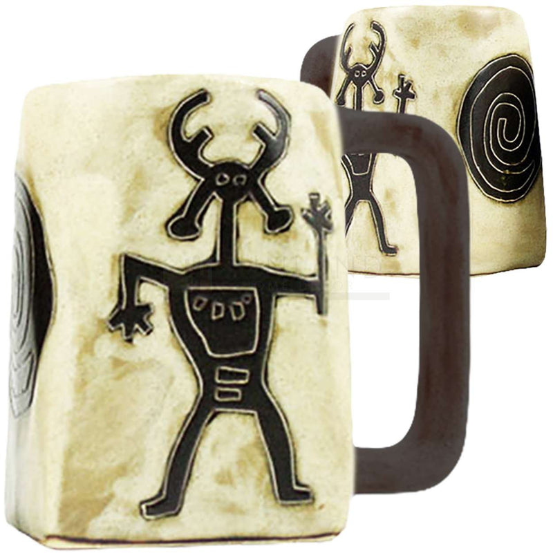 Mara Square Bottom Mug 12 oz - Petroglyphs   511W2