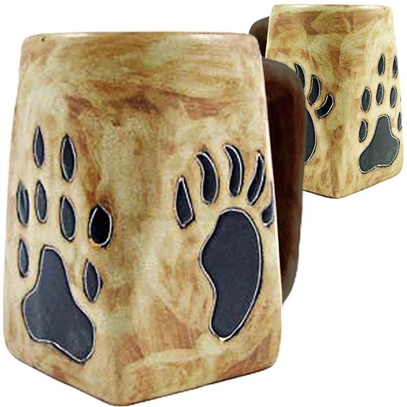 Mara Square Bottom Mug 12 oz - Bear Paws  511X8