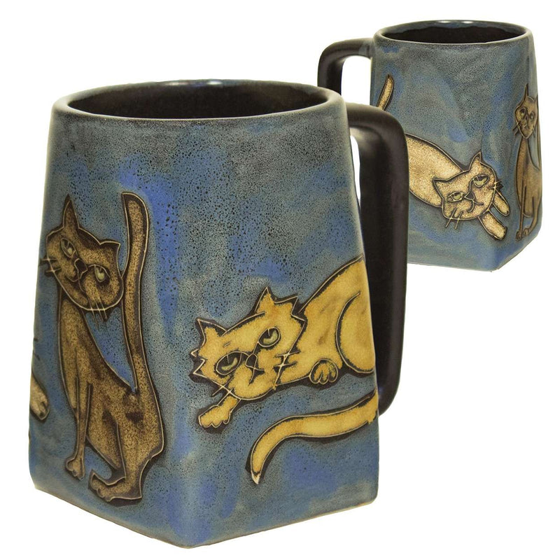 Mara Square Bottom Mug 12 oz - Playful Cats  511Y6