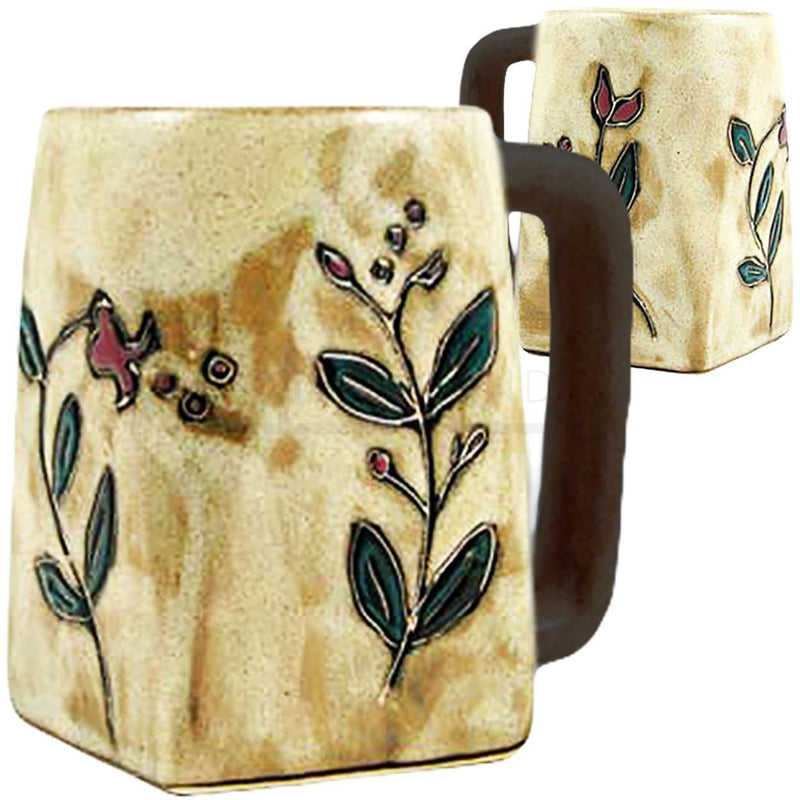 Mara Square Bottom Mug 12oz - Wild Flowers  511Z1