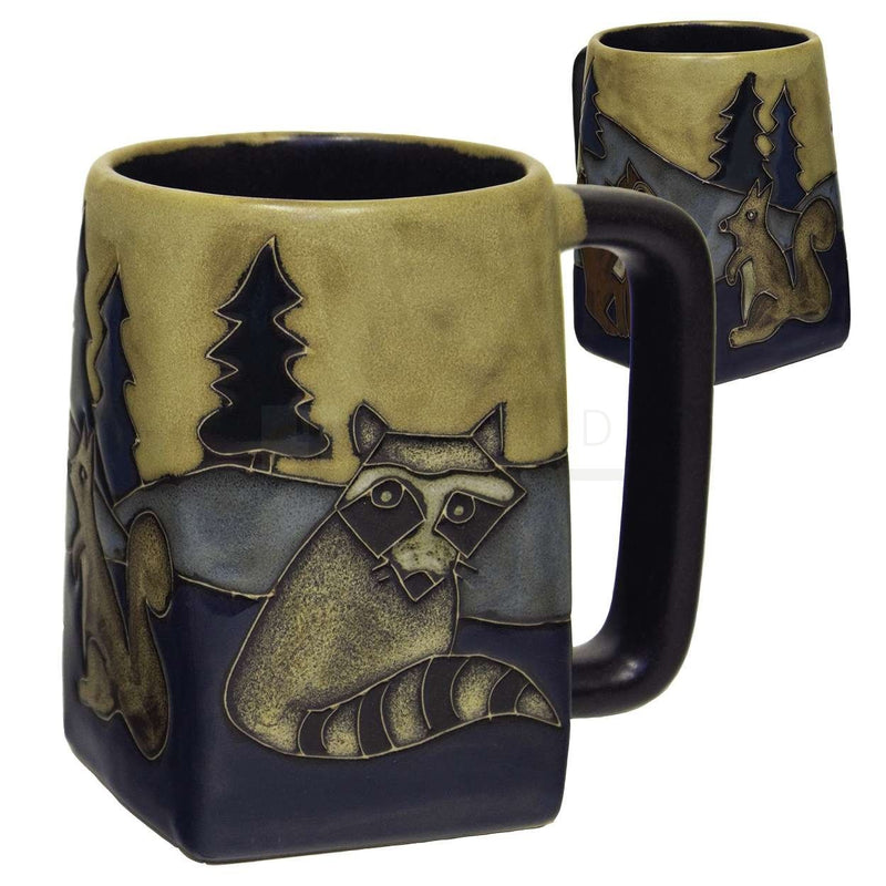 Mara Square Bottom Mug  12 oz  - Owls on Branch  511Y7