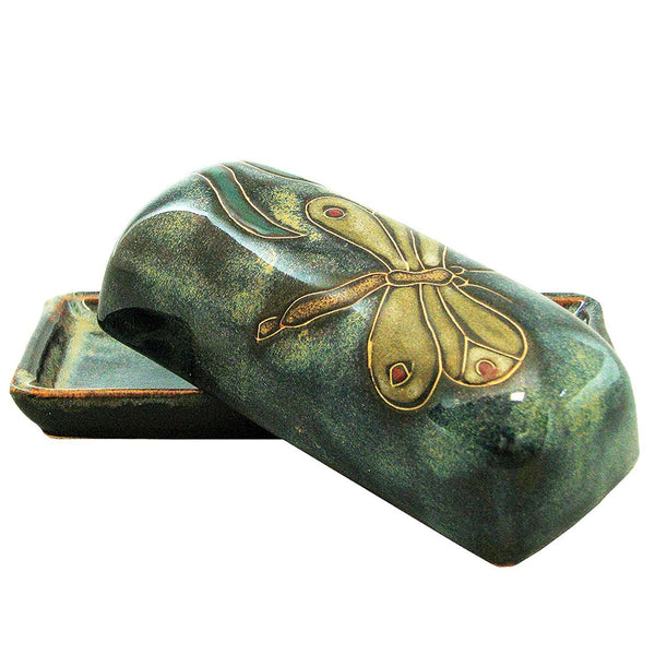 Mara Stoneware Butter Dish  - Dragonfly   565DF