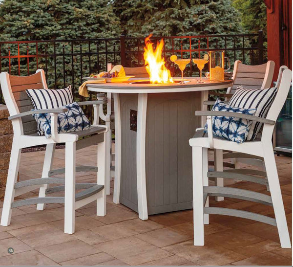 Casual Comfort Bayshore 5 piece Bar Fire Table Set  6530-PUB-(4)6510