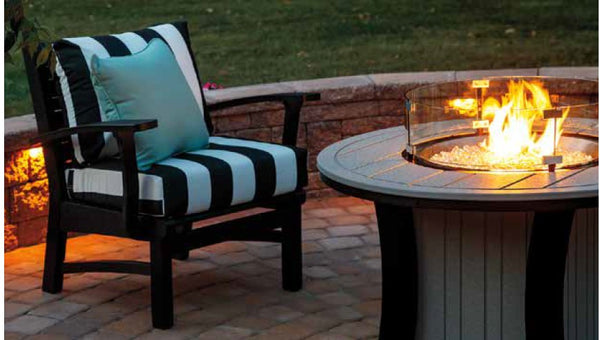 Casual Comfort Bay Shore Conversation Fire Pit Table 6530-CONV