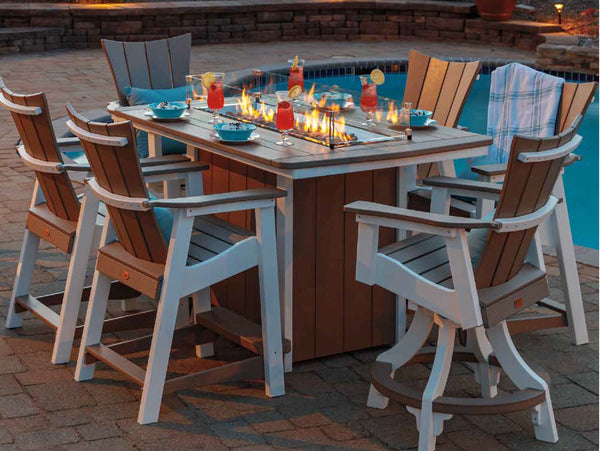 "Casual Comfort Bay Shore Rectangle Dining Fire Pit Table 40"" x 72""  6533DIN"