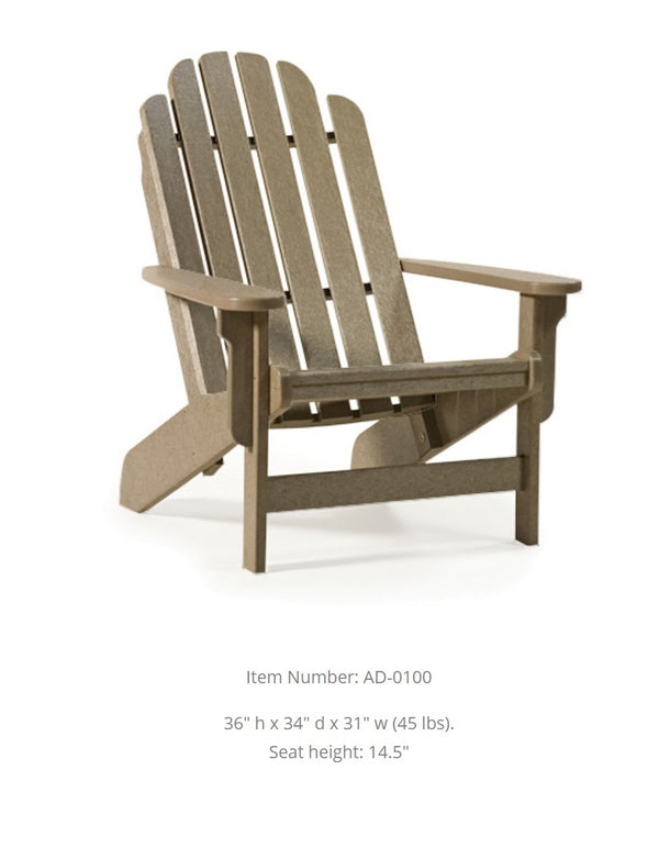Breezesta Shoreline Adirondack Chair  AD-0100