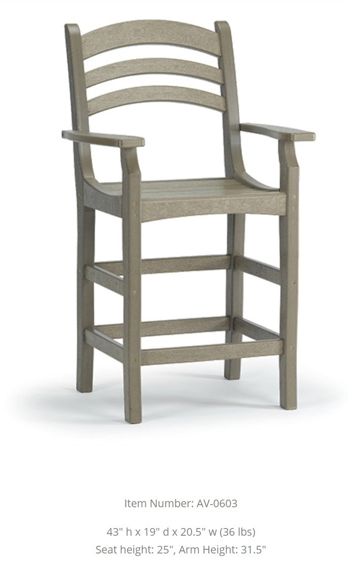 Breezesta Avanti Counter Captain's Chair