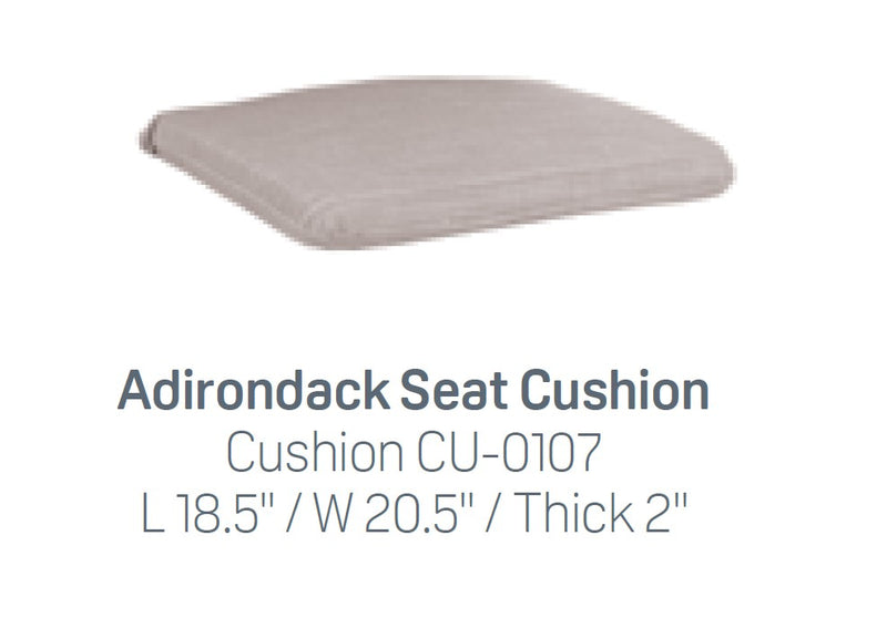 Breezesta Adirondack Seat Cushion (seat only)  CU-0107
