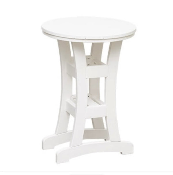 "Casual Comfort Bayshore Dining 28"" Round Table  CC-3028R (shown as bar height)"