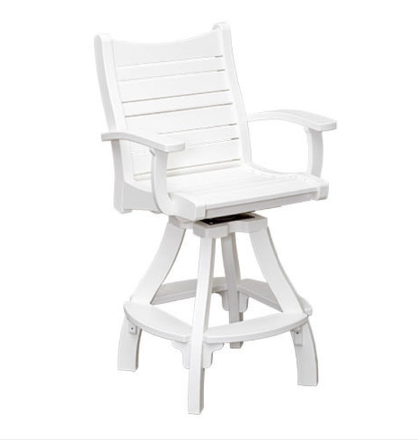 Casual Comfort Bayshore Swivel Counter Chair with Arms CC-6516CA
