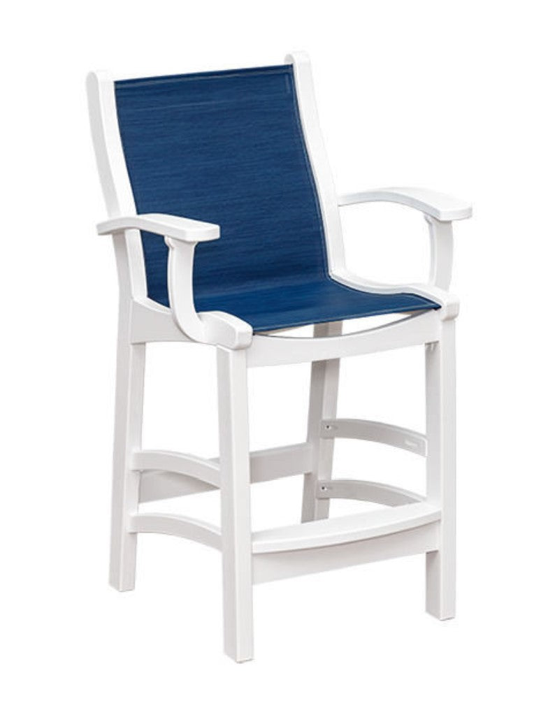 Casual Comfort Bayshore Counter Sling Chair with Arms  CC-6514-CA