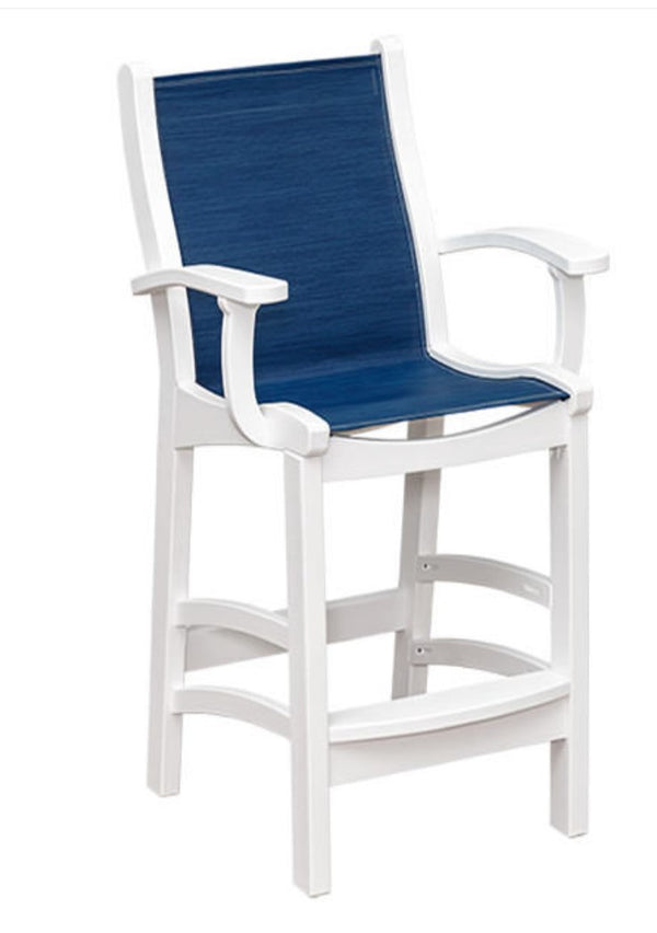 Casual Comfort Bayshore Pub/Bar Sling Chair with Arms  CC-6514A