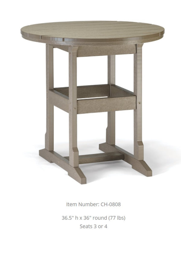 Breezesta Counter Table 36 inches  Round 36.5 Inches High  CH-0808