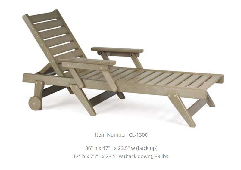 Breezesta  Chaise  Lounge with Wheels CL-1300