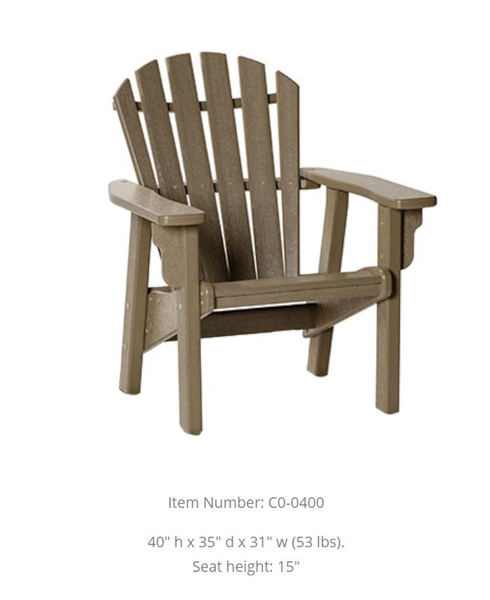 Breezesta Coastal Upright Adirondack Chair  CO-0400
