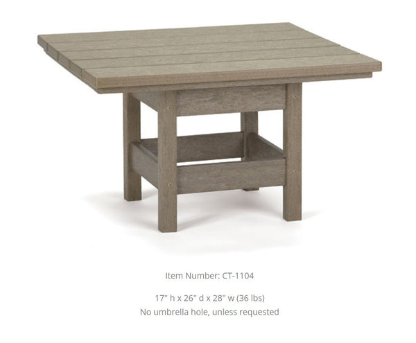 Breezesta Conversation Table - Square - 26  x 28 inches   CT-1104