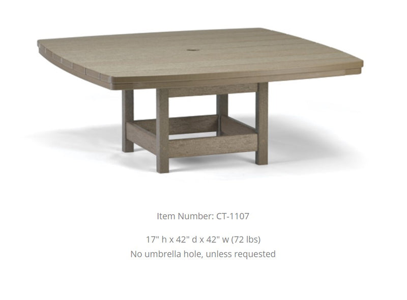 Breezesta Conversation Table - 42 inches Square  CT-1107