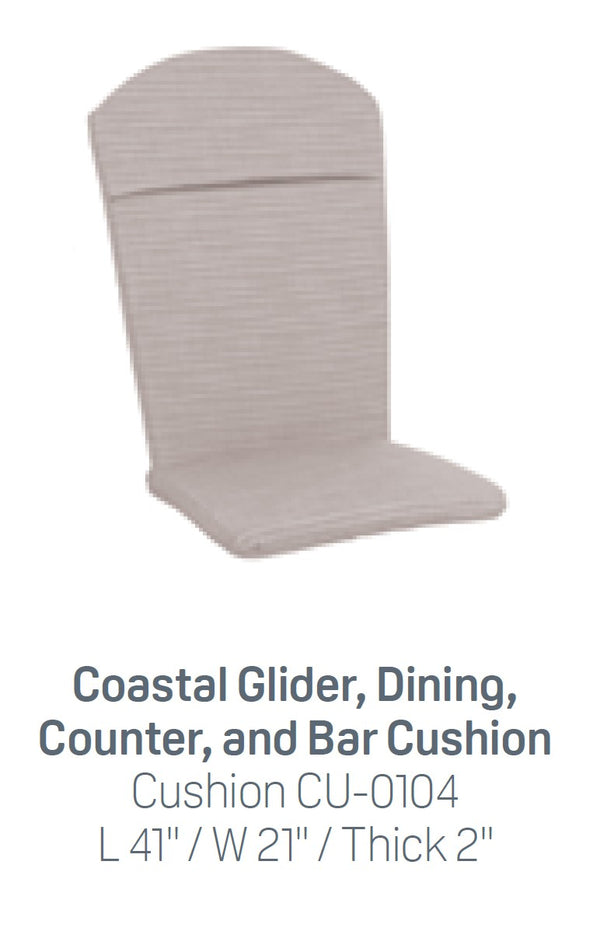 Breezesta Coastal Glider, Dining, Counter & Bar Seat and Back Cushion  CU-0104