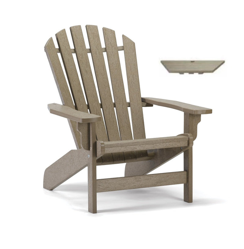 Breezesta Coastal Adirondack Chair and Tete-a-Tete Table Top Set