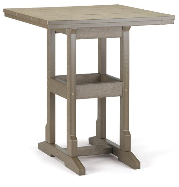 Counter Table - 26 X 28 Inches -  36.5 inches High