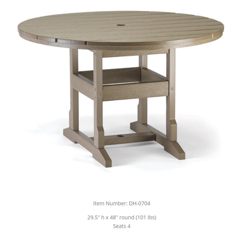 Breezesta Dining Table - 48 Inches Round  DH-0704
