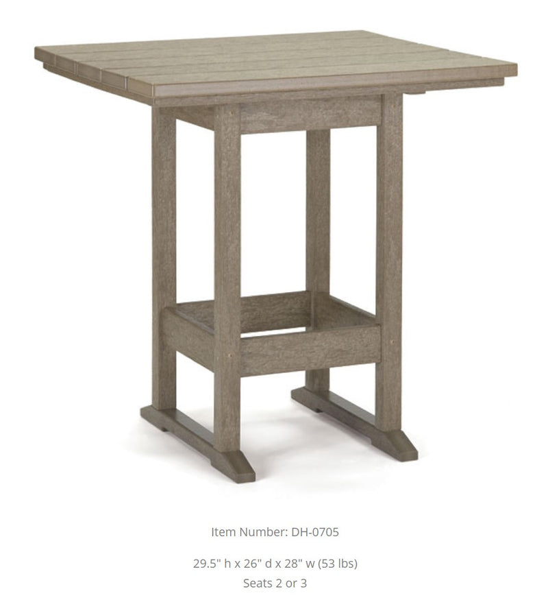 Breezesta Dining Table - Square  - 26 inches x 28 inches DH-0705