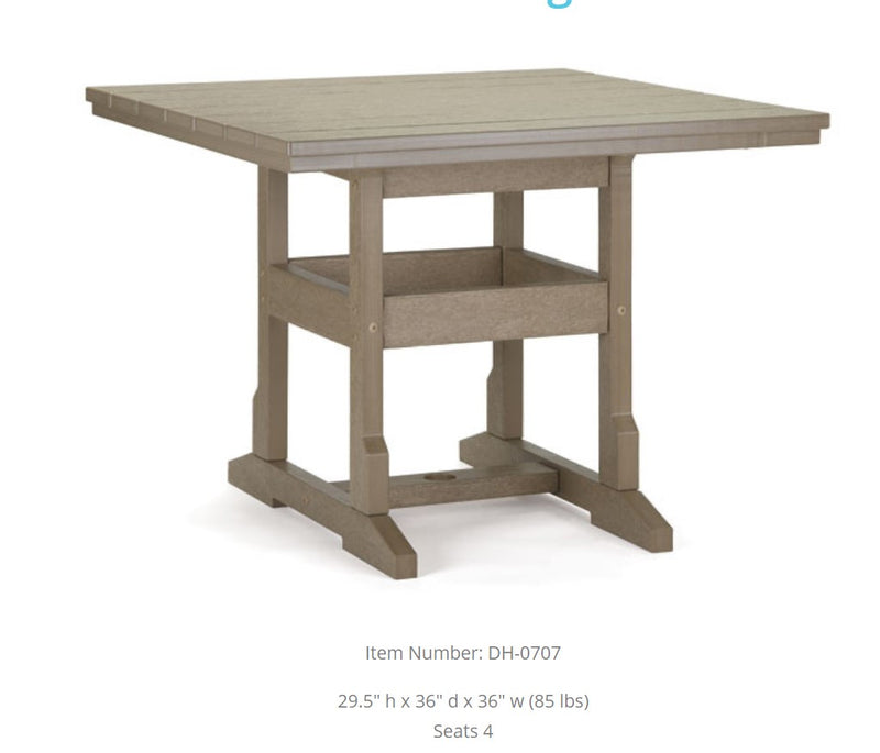 Breezesta Dining Table - 36 inches Square  DH-0707