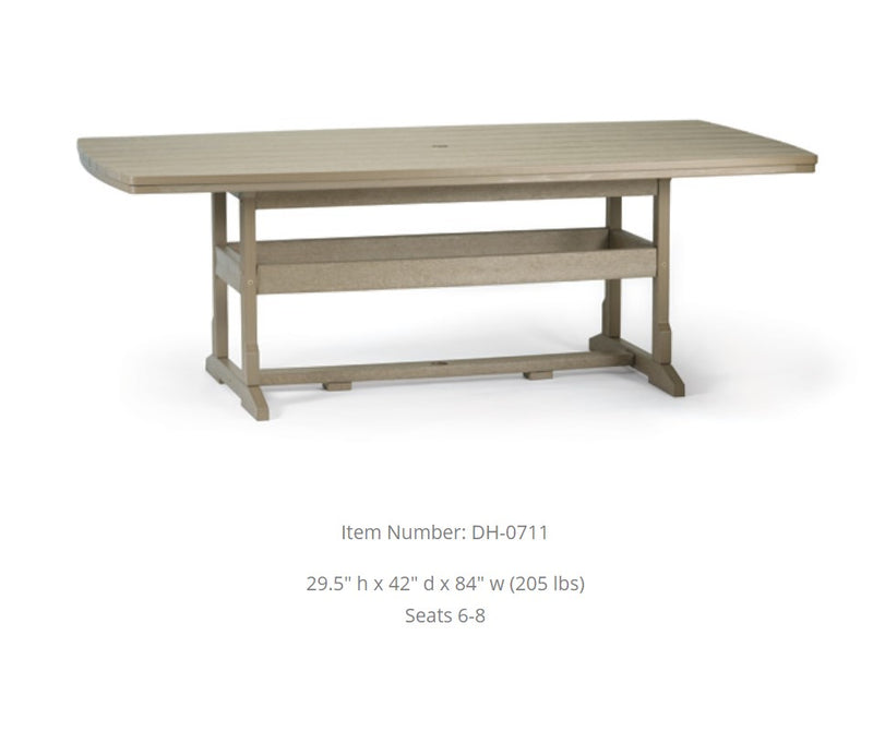 Breezesta Dining Table - 42 inches  x 84 inches  DH-0711