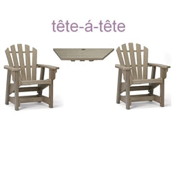 Breezesta Dining Height Tete'-a-Tete' Table & Chair Set  DH-0700TT