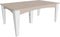 "LuxCraft Island Dining Table Set (44"" x 72"" table and 6 Side Chairs)  IDTRS"