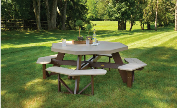 LuxCraft Octagon Picnic Table  POPT