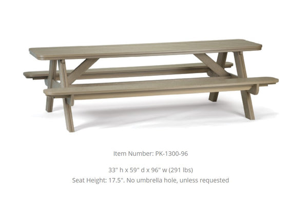 Breezesta 8' Picnic Table PK-1300-96