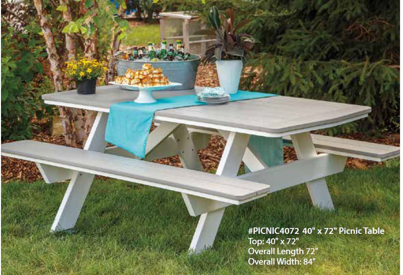 Casual Comfort 6' Picnic Table  PICNIC4072
