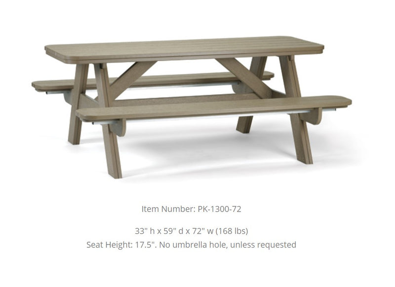 Breezesta 6' Picnic Table  PK-1300-72
