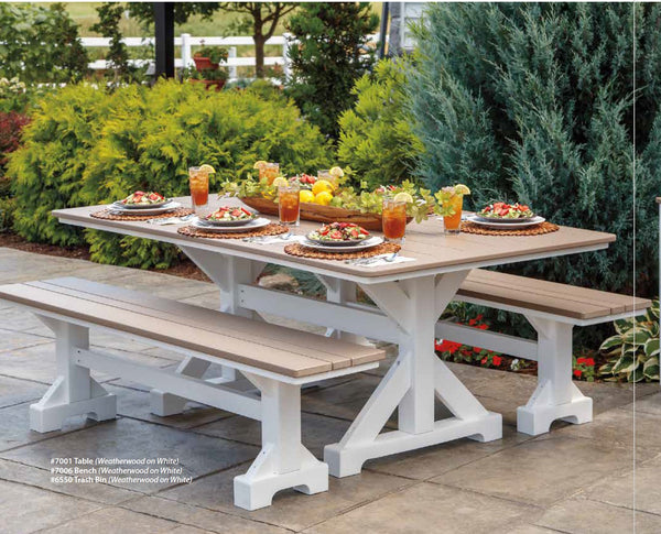 Casual Comfort  Picnic Table - Bench Set Choose 5' - 6' or 7'  PICNIC7001-7005