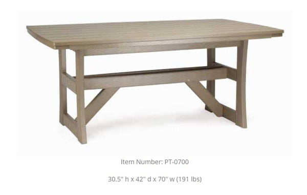 Breezesta Piedmont Dining Table PT-0700