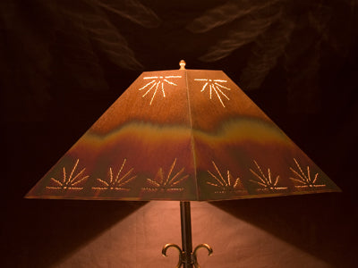 Copper Lamp Shade - Rectangle