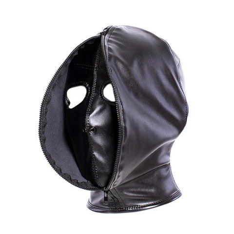 Leather Double Face Hood on www.askann.co.uk | Cheap Adult Sex Toys