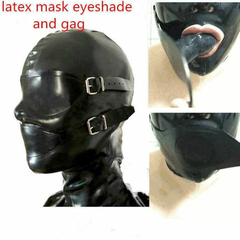 Full Enclosure Rubber Hood with Eyeshade on www.askann.co.uk | Cheap Adult Sex Toys