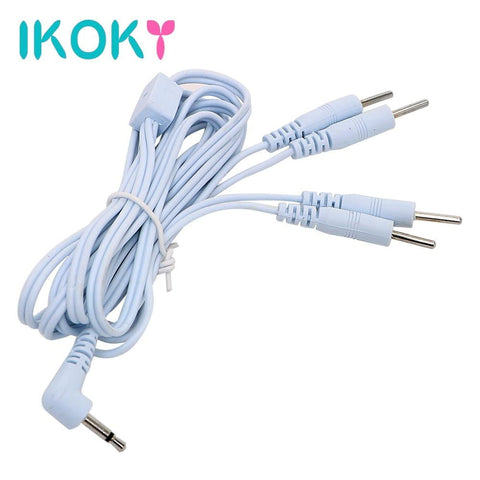 IKOKY Electro Stimulation Wires on www.askann.co.uk | Cheap Adult Sex Toys