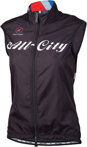 All-City Team Women's Vest: Black/Red/Blue