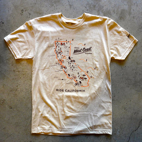 CA Ride Map T-Shirt
