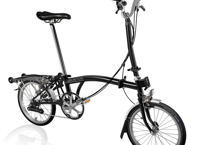2019 Brompton H6R Black w/ Wide Saddle