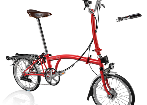 2018 Brompton H6R Red with reduced gearing