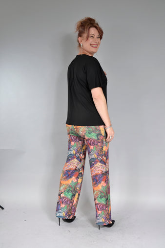 Pantalon Noelia P040 imprimeu abstract