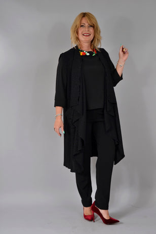 Vesta C052 Kinga Negru fir Jachete Feel Free Fashion