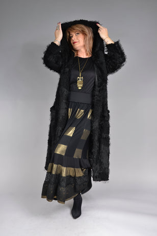 Cardigan Simina C057, negru Feel Free Fashion