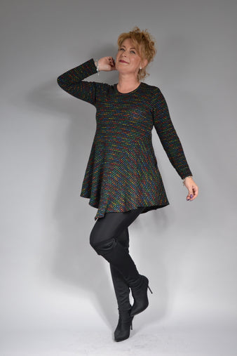 Bluza B156 NANA negru multicolour Feel Free Fashion